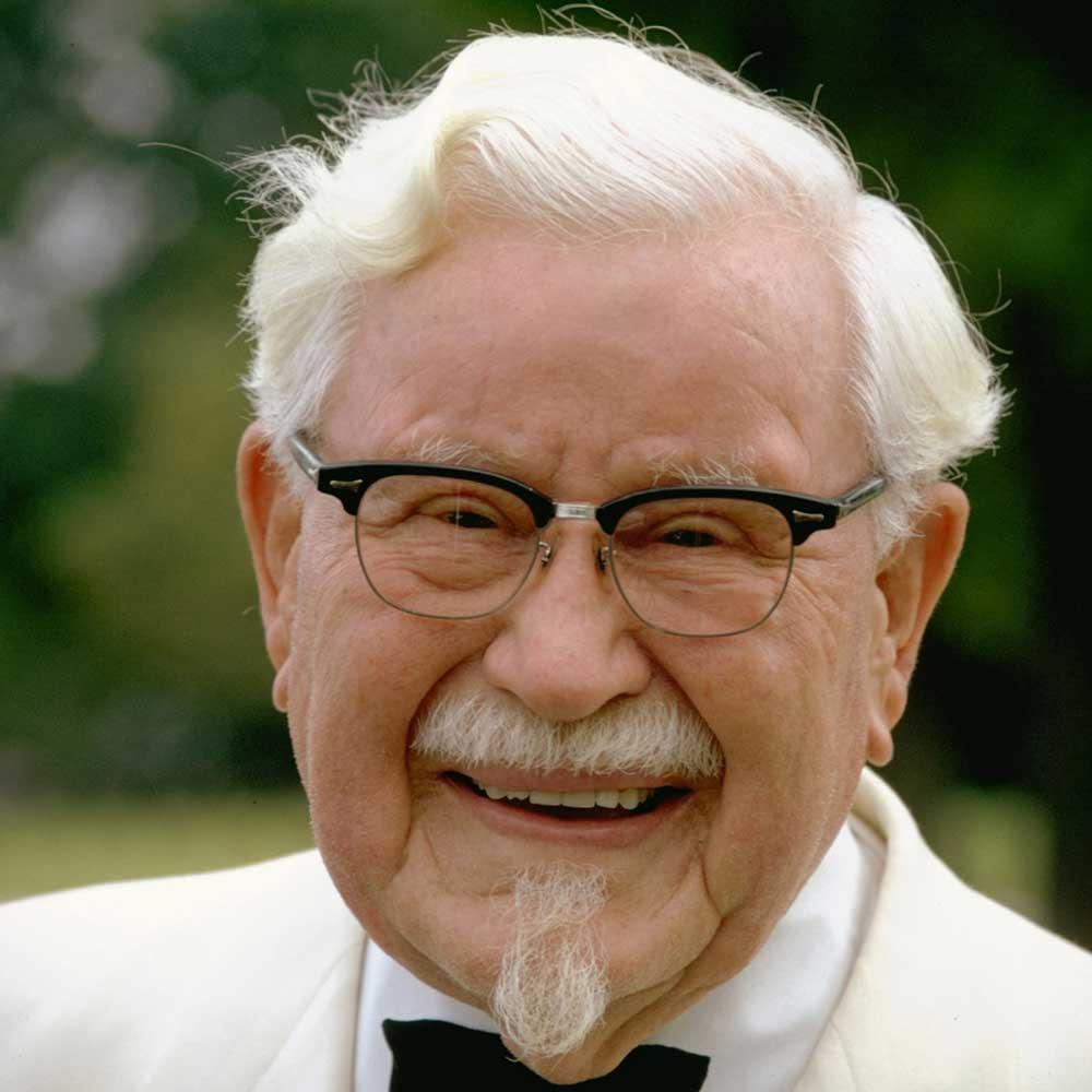 زندگينامه ي کلنل سندرز ، پديدآورنده ي برند KFC